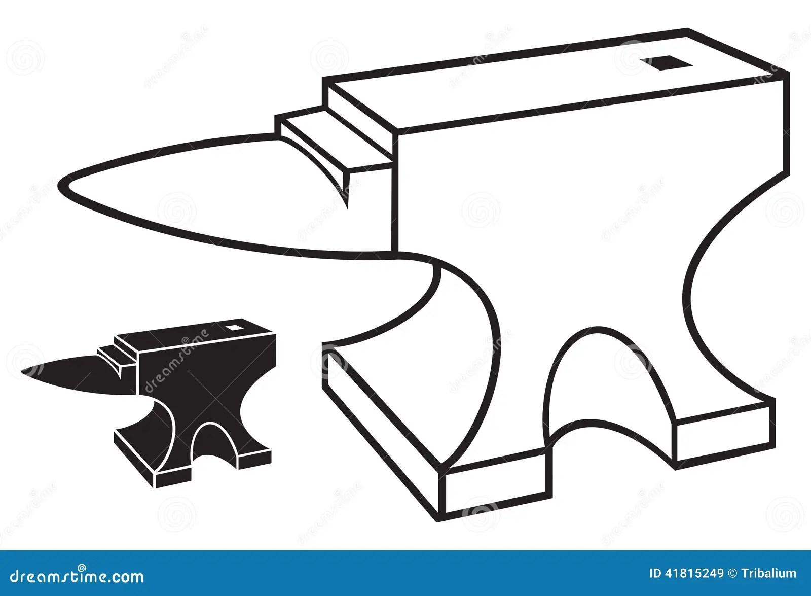 Anvil stock vector. Illustration of manual, equipment