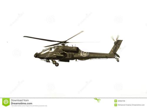 small resolution of apache helicopter over white