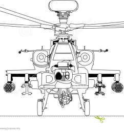 apache war machine vector outline black white line art helicopter [ 1300 x 737 Pixel ]