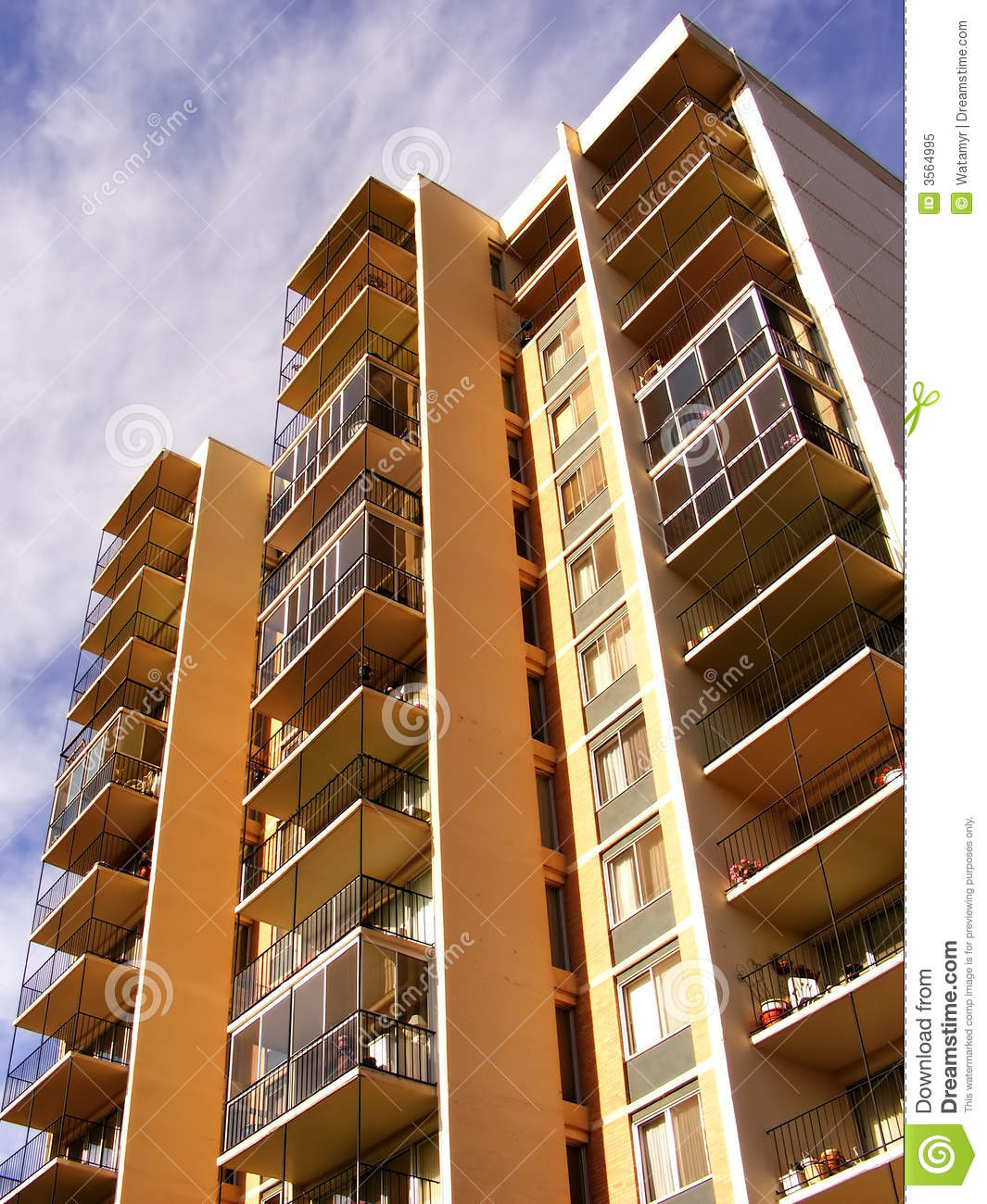 Apartment Balcony Perspective Stock Image Image Of Design High 3564995