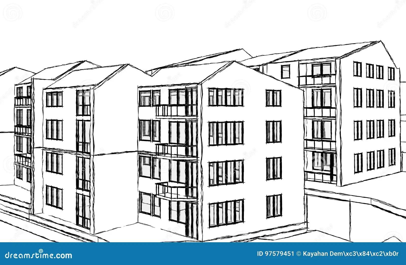 Apartment Building Stock Vector Illustration Of Fullness