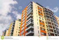 Apartment Building With Balconies Royalty Free Stock Photo ...