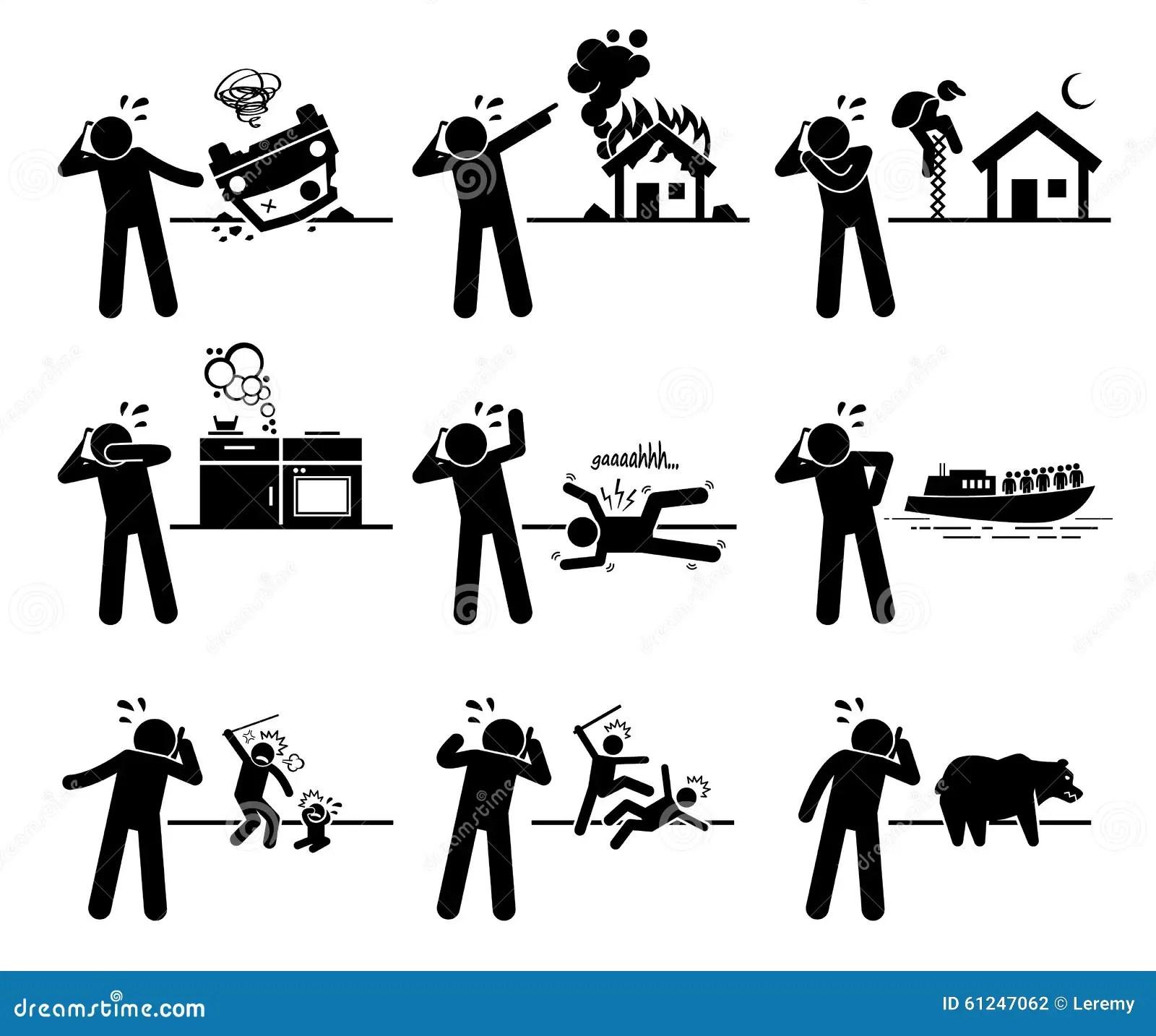 Appel D Urgence Clipart Illustration De Vecteur