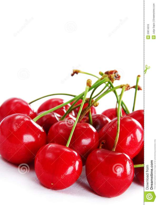 Appetizing Red Cherries Royalty Free Stock Image Image