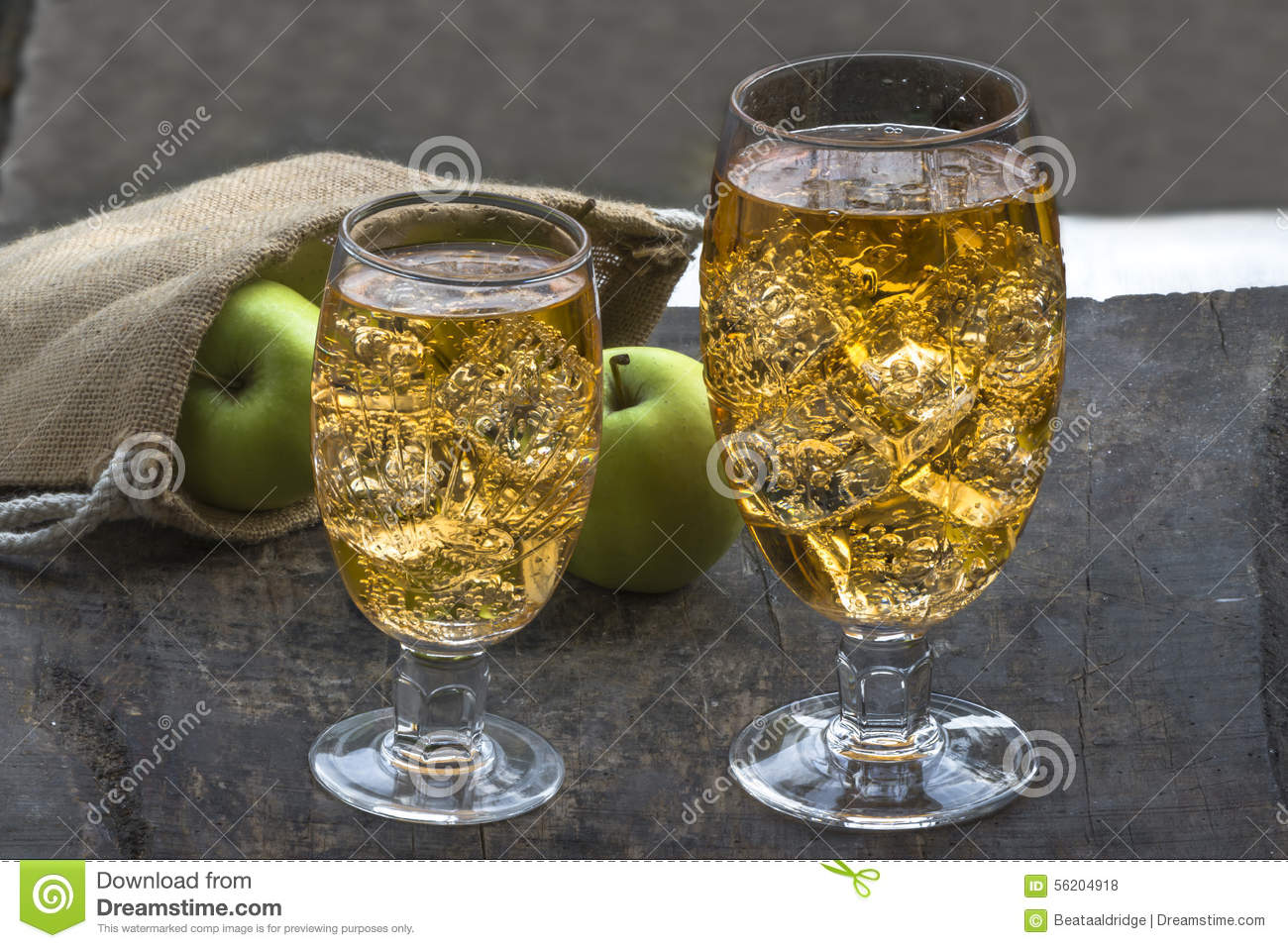 Apple Cider With Ice Cubes Stock Photo  Image 56204918