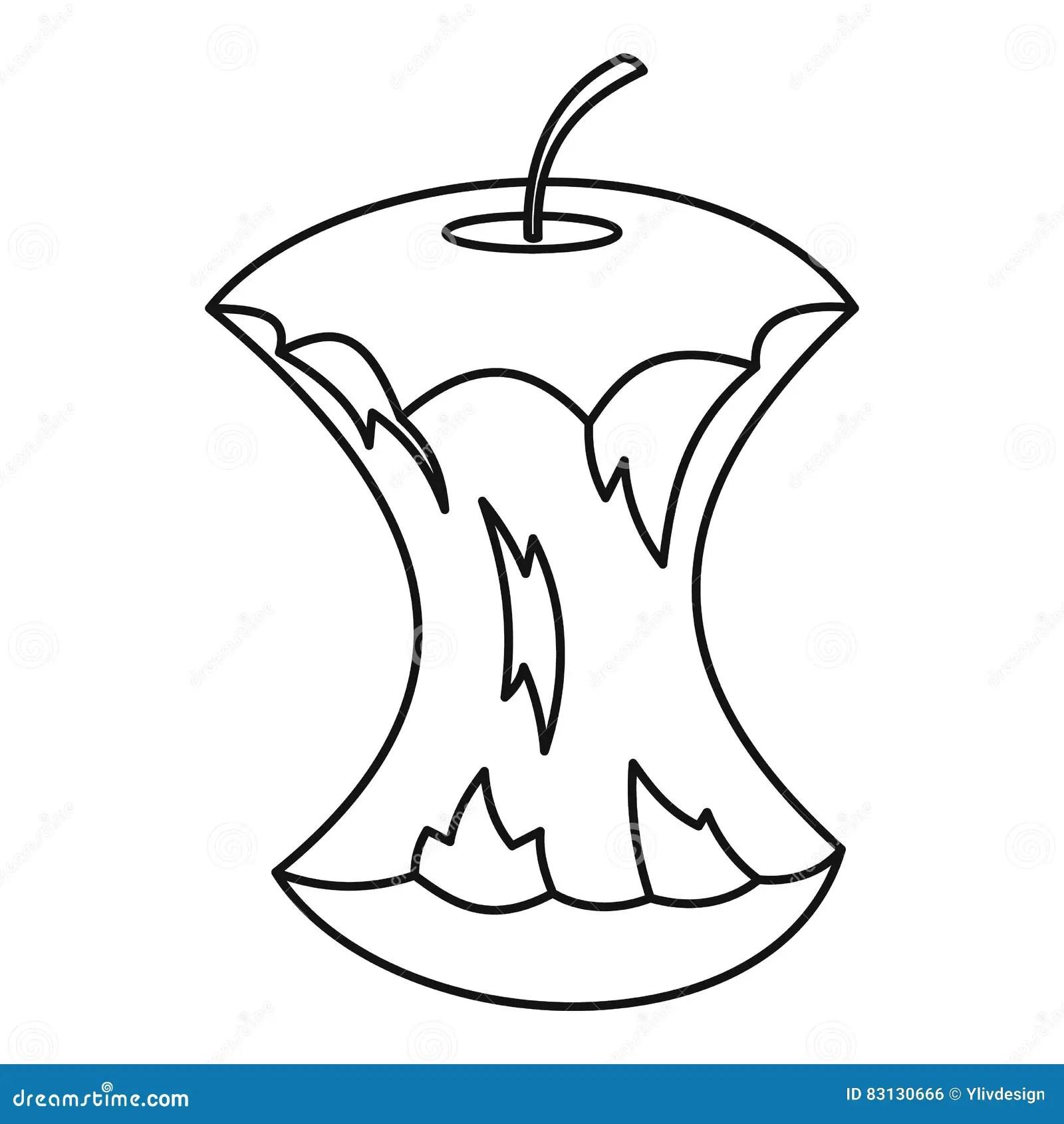 Apple Core Clipart
