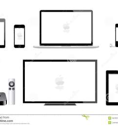 apple ipad mini iphone ipod mac tv editorial image illustration of apple tv 1st generation mac tv diagram [ 1300 x 997 Pixel ]