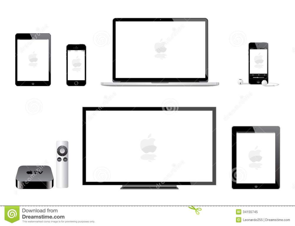 medium resolution of apple ipad mini iphone ipod mac tv editorial image illustration of apple tv 1st generation mac tv diagram