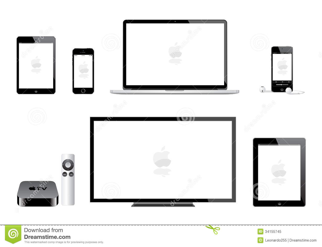 hight resolution of apple ipad mini iphone ipod mac tv editorial image illustration of apple tv 1st generation mac tv diagram