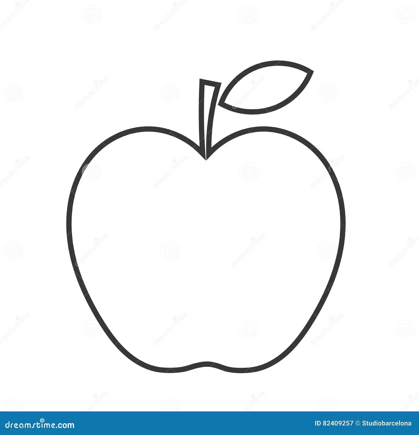 Apple linear shape stock vector. Illustration of symbolic