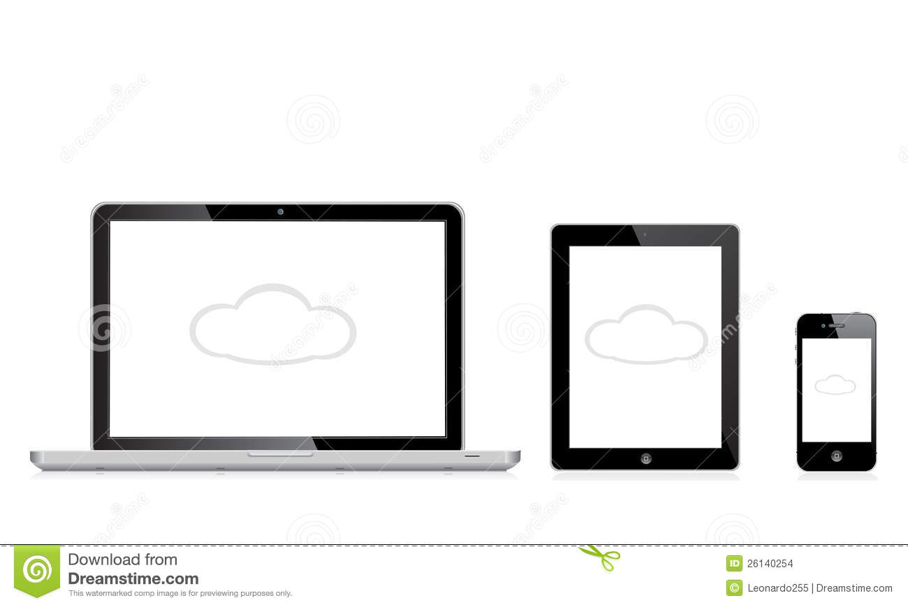 Apple mac ipad iphone editorial stock image. Illustration