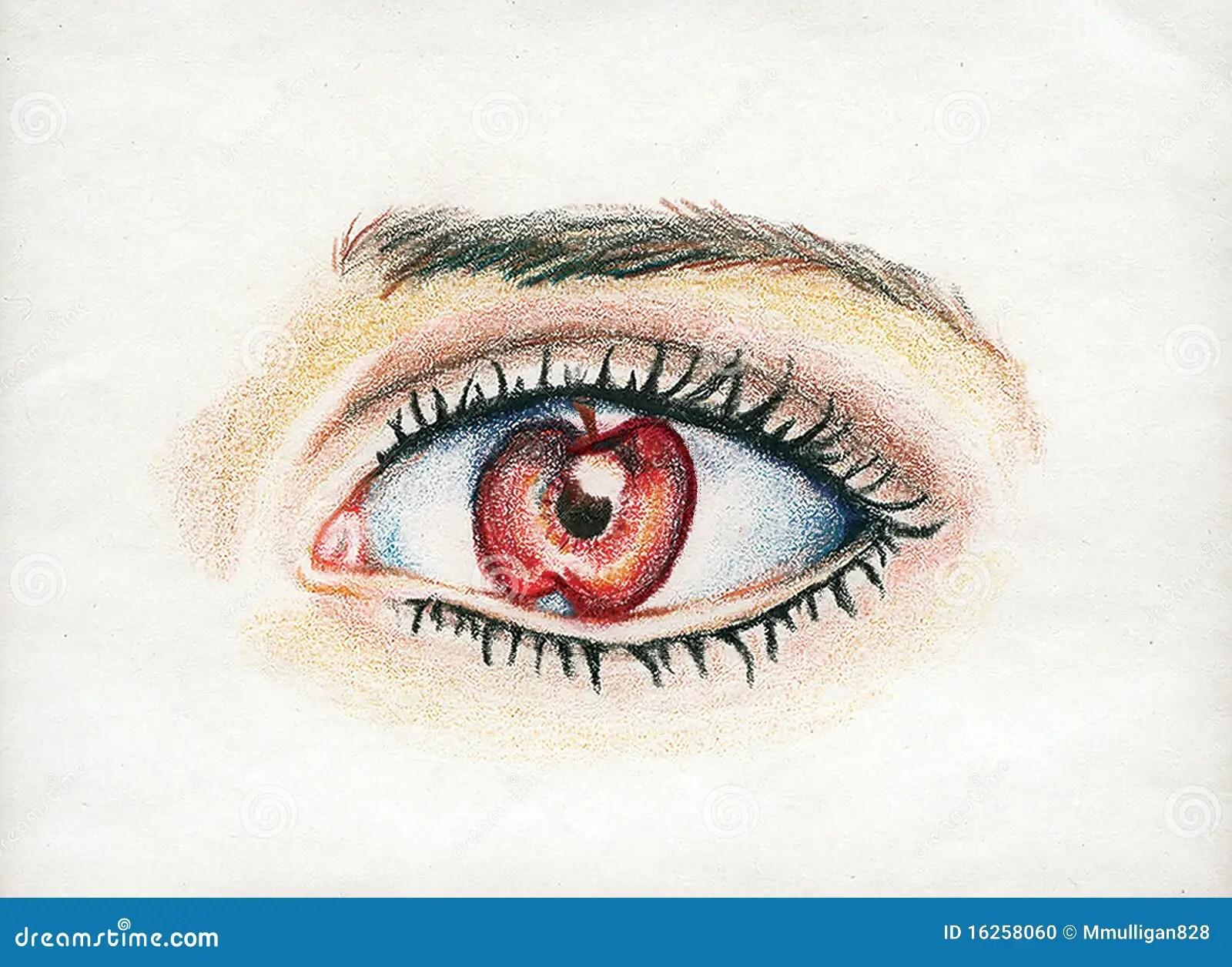 Apple Of My Eye Stock Illustration Illustration Of Lashes