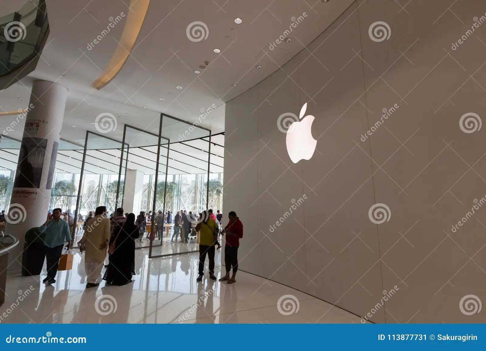 Apple Store In Dubai Mall. United Arab Emirates Editorial Photo - Image of electronics. arab: 113877731