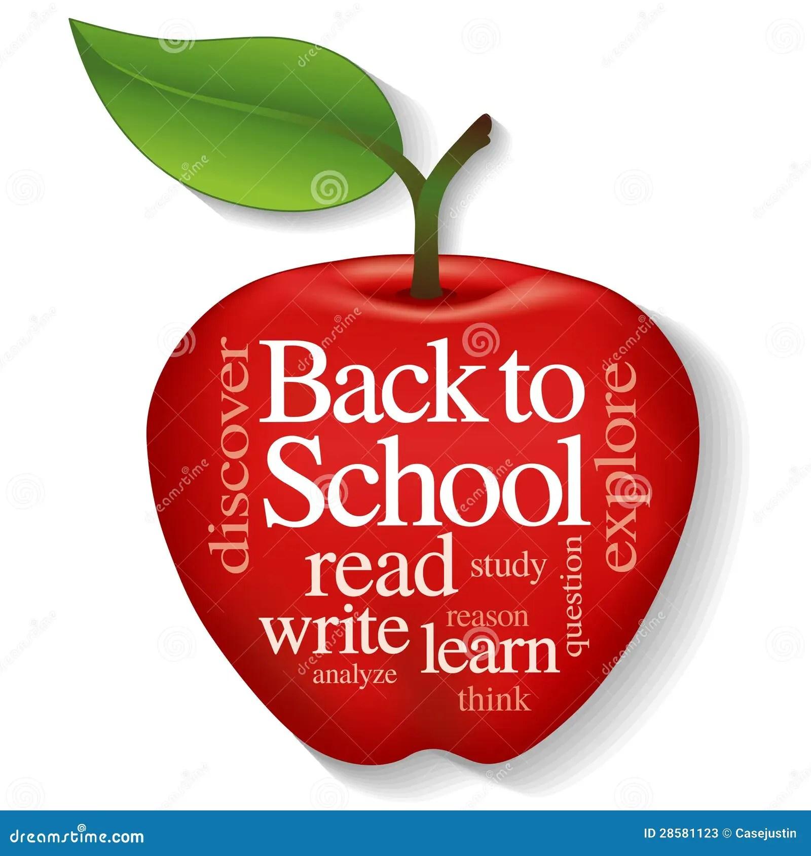 Apple Word Cloud Back To School Stock Vector