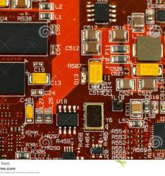 application specific integrated circuit ics chip capacitors tantalum capacitors and chip resistors mounted on a printed wiring board [ 1300 x 957 Pixel ]