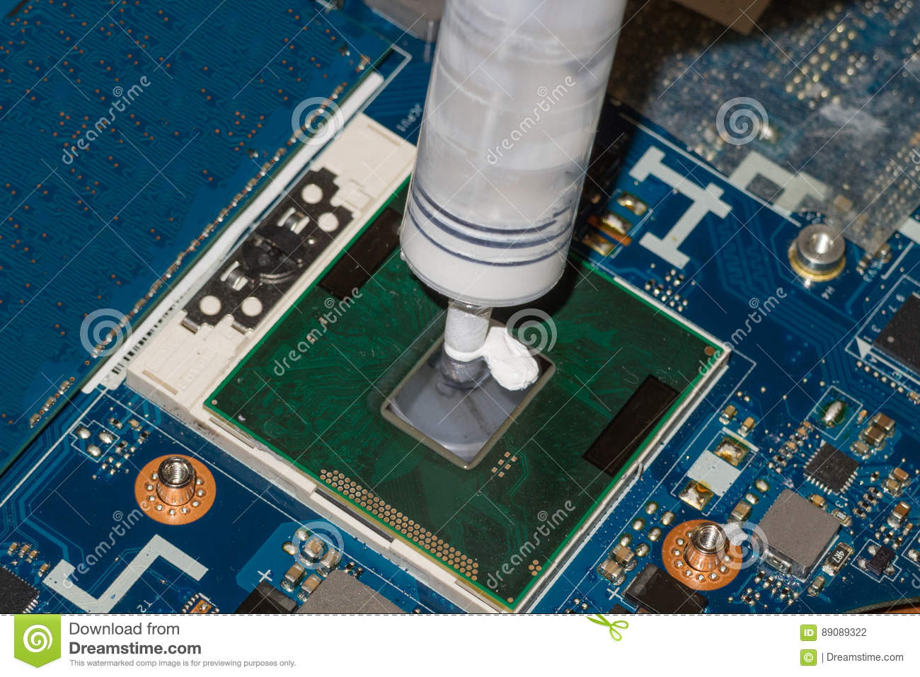application of thermal paste