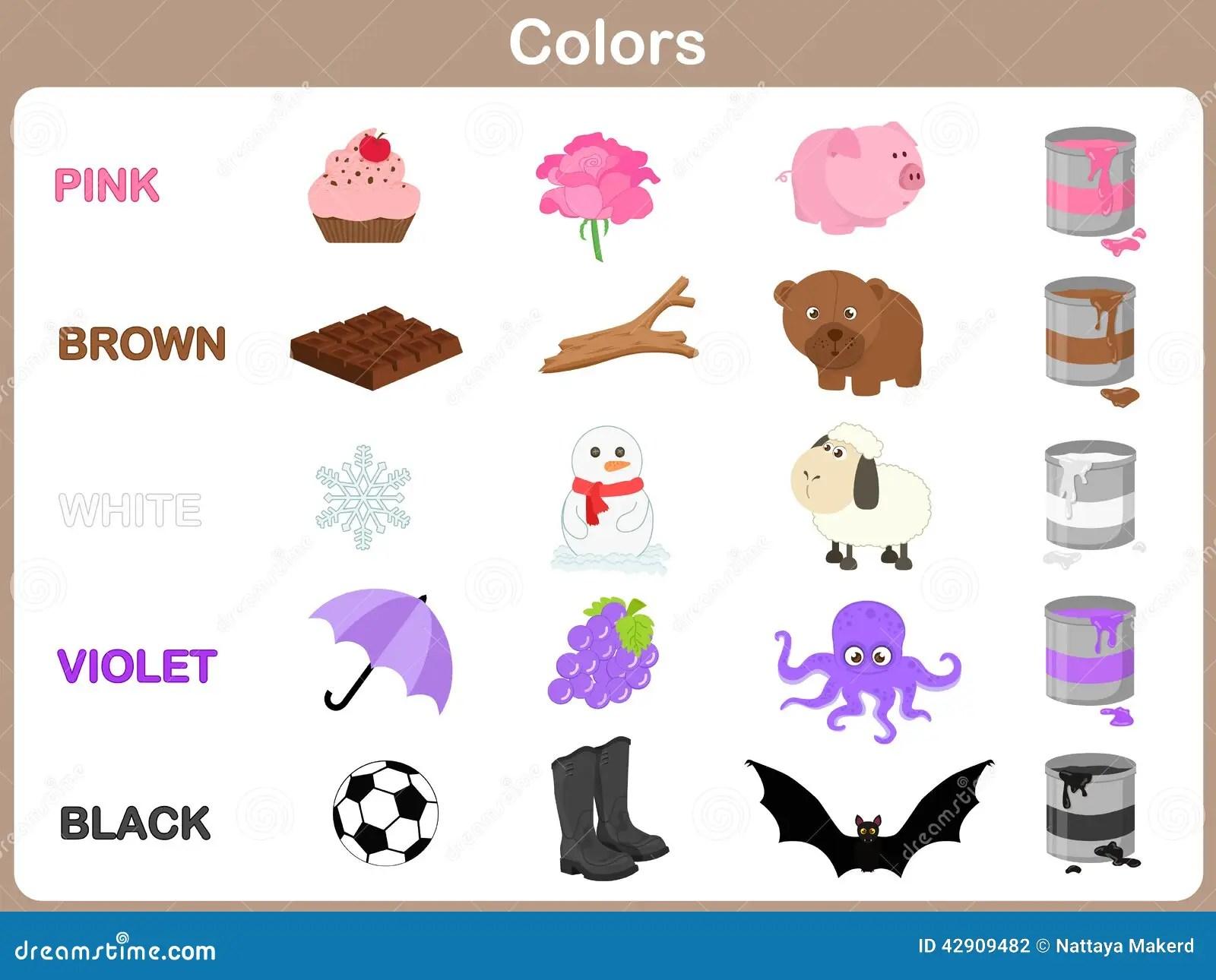 Aprendizaje De Los Colores Del Objeto Para Los Ninos