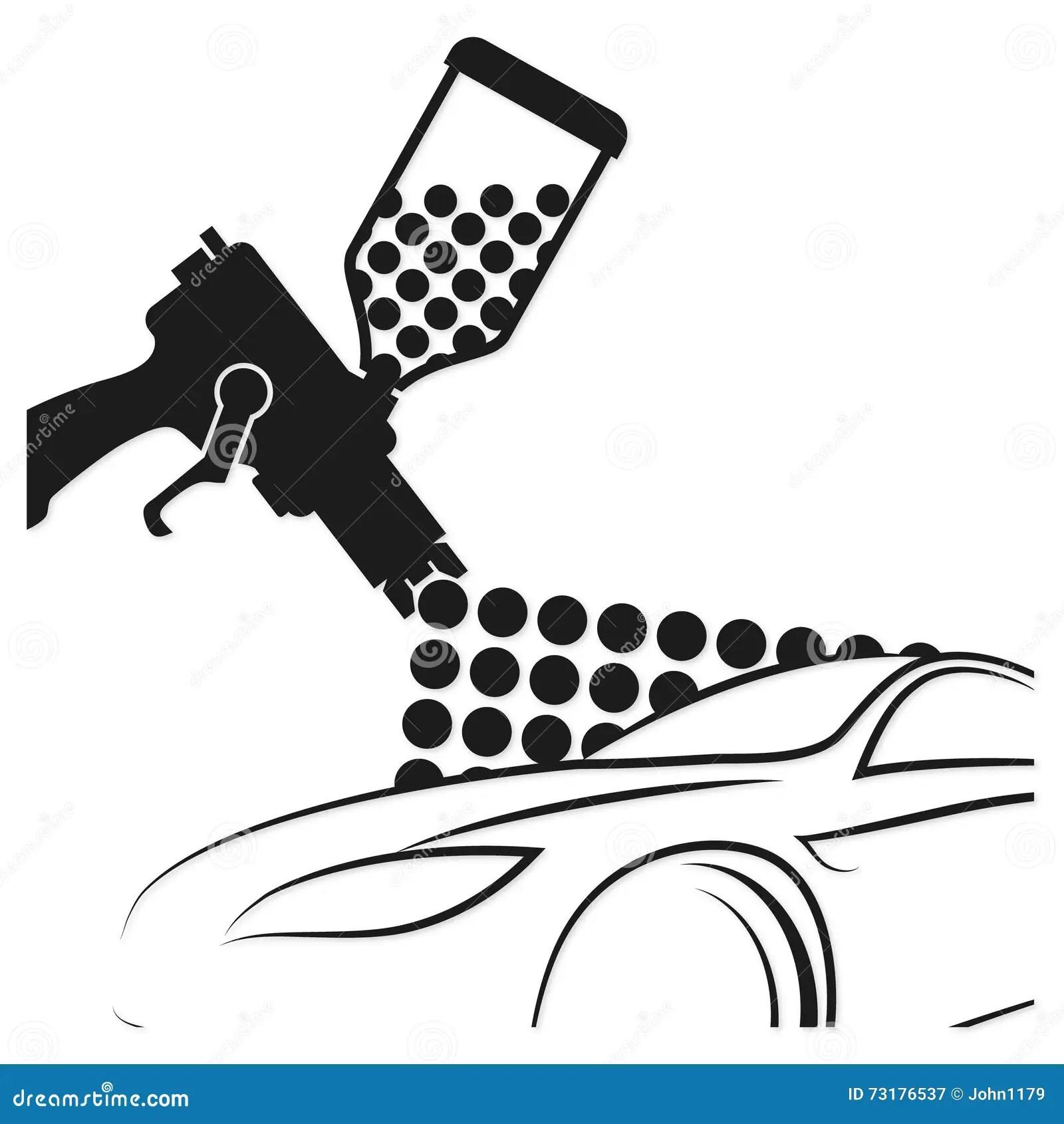 Automotive Paint Sprayer Gun Vector Illustration Vector