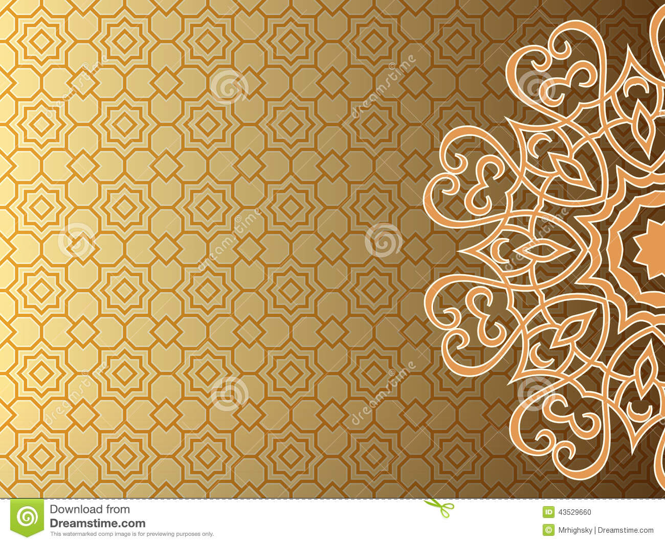 Arab Style Background Stock Vector