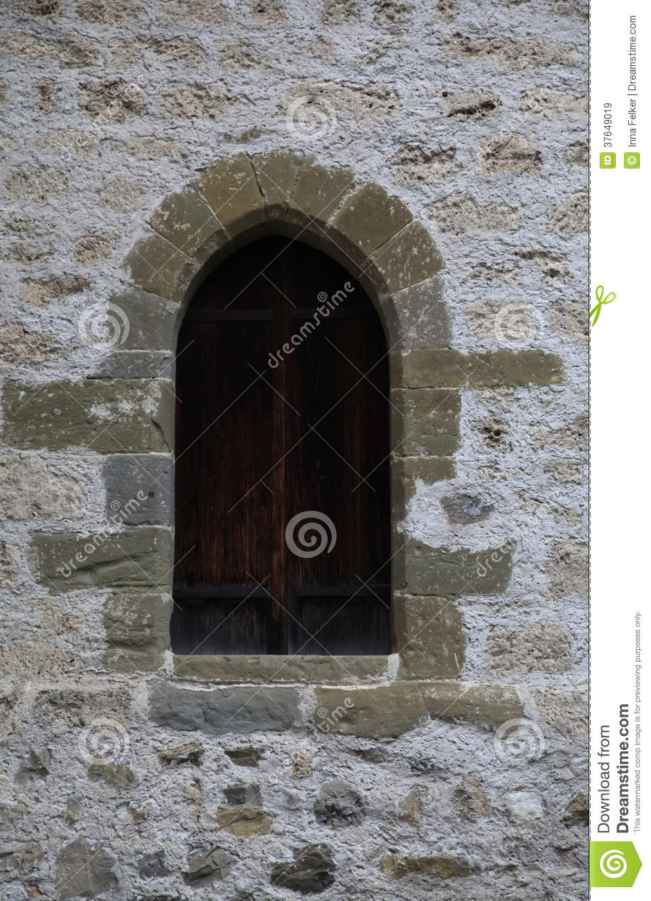 Arch Window Of Medieval Castle Stock Image  Image 37649019