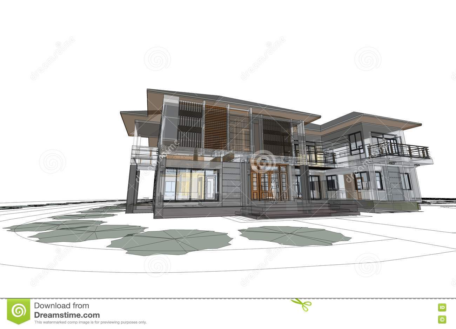 Emejing architecture moderne maison dessin pictures for Architecture de maison moderne