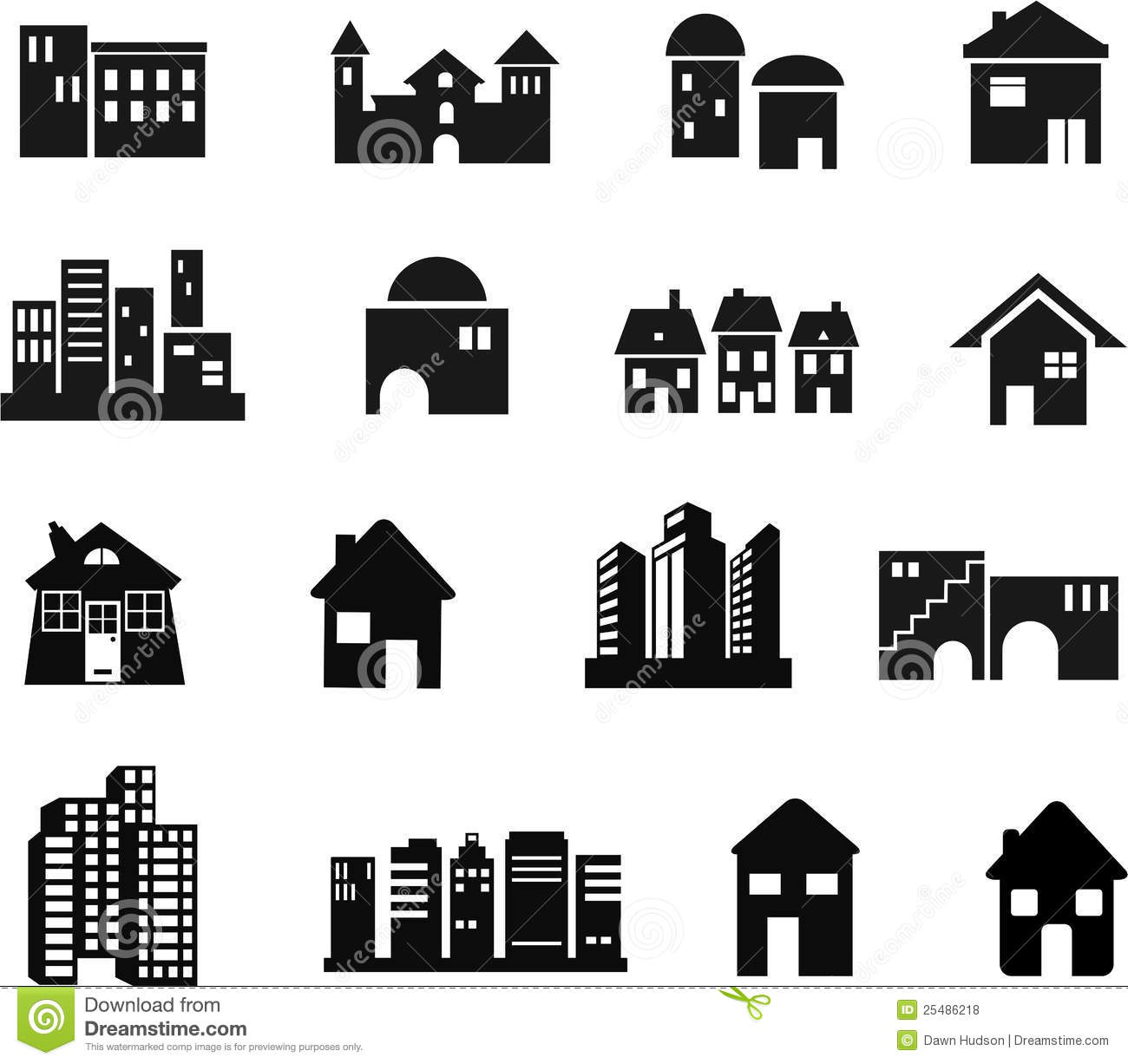 Architecture Icons Royalty Free Stock Photos Image 25486218