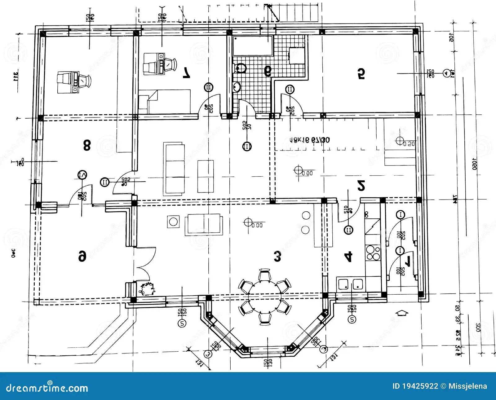 Architektoniczny Plan Ilustracja Wektor Ilustracja