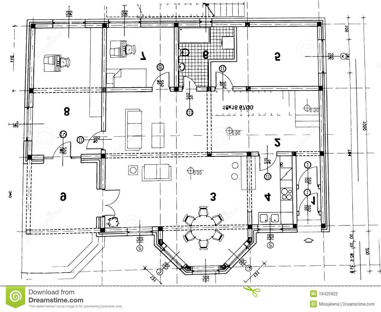Architekturplan Vektor Abbildung Illustration Von