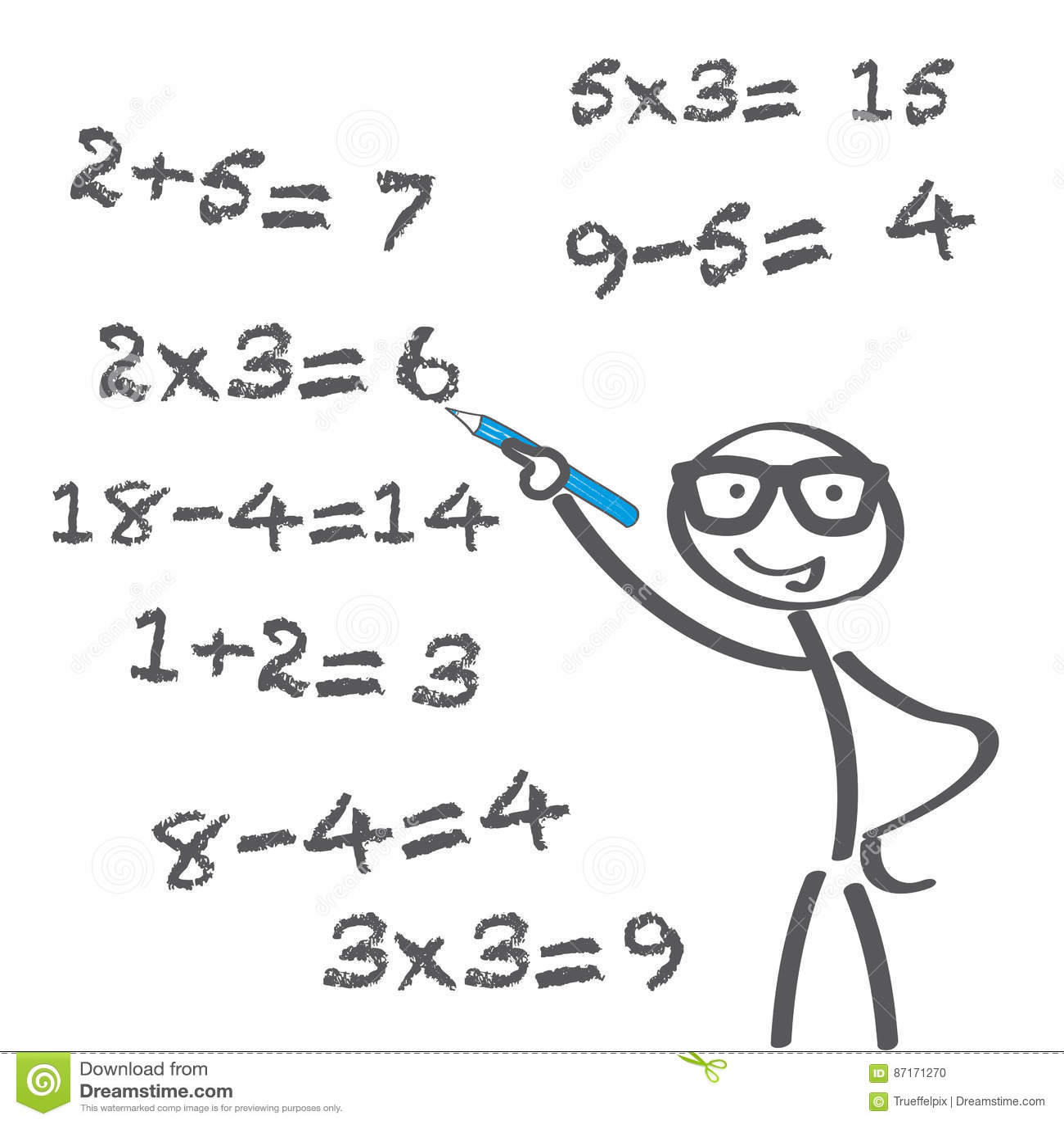 Arithmetic Problem Stock Illustration Illustration Of