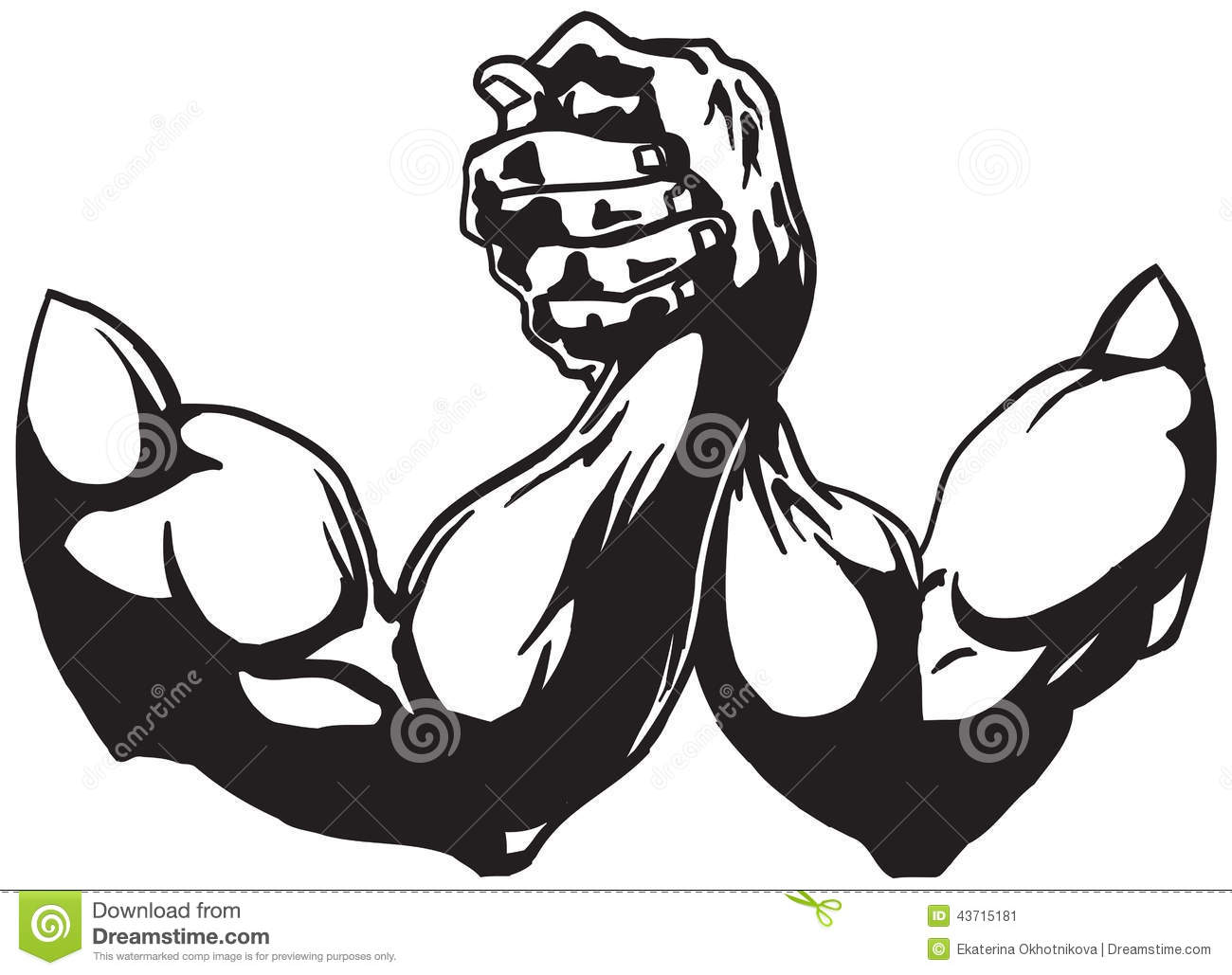 Arm Wrestling Stock Vector Illustration Of Muscle