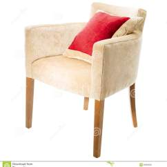 Armchair Pillow Chair With Side Table Red Stock Photography Image 29003022