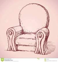 Armchair. Vector Drawing Stock Vector - Image: 55422055