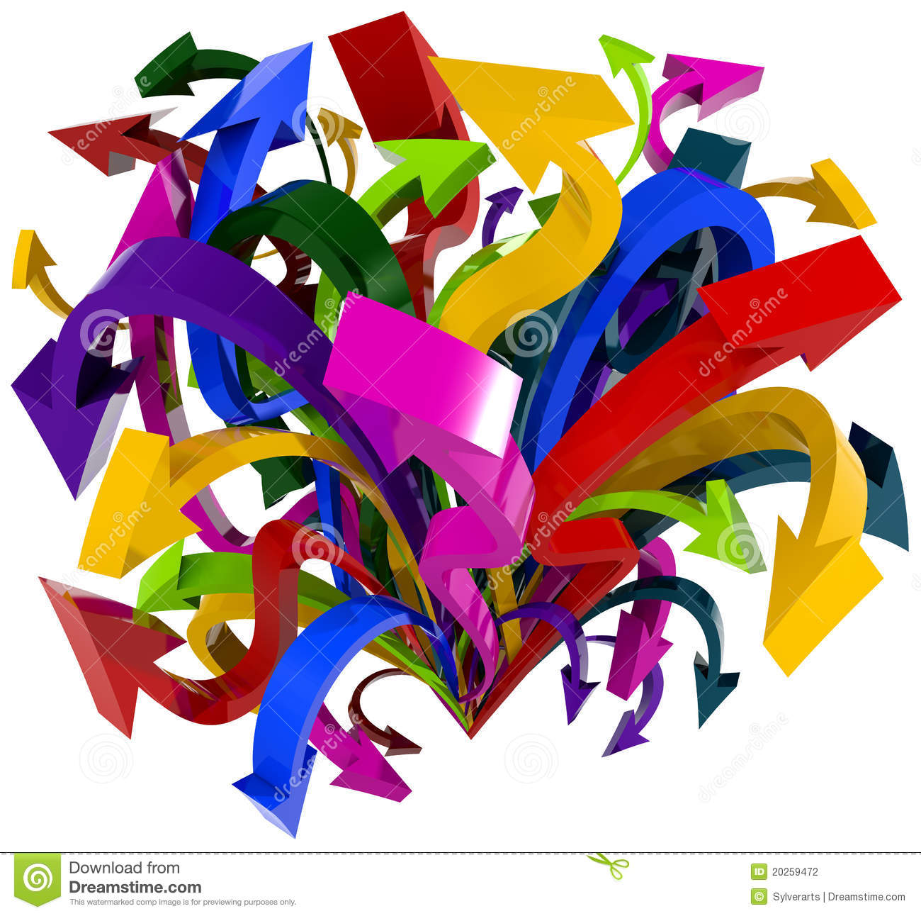 Arrows Chaos Stock Photography Image 20259472