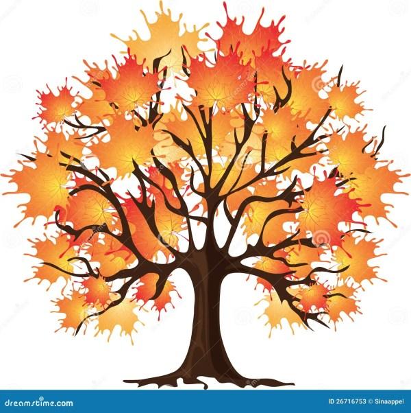 art autumn tree. maple. vector