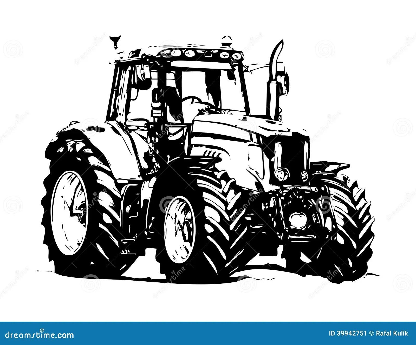 Art D'illustration De Tracteur Agricole Illustration Stock