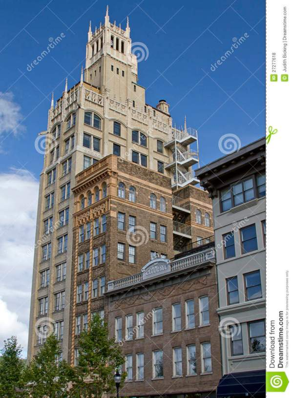 Art Deco Architecture Of Asheville Nc Stock