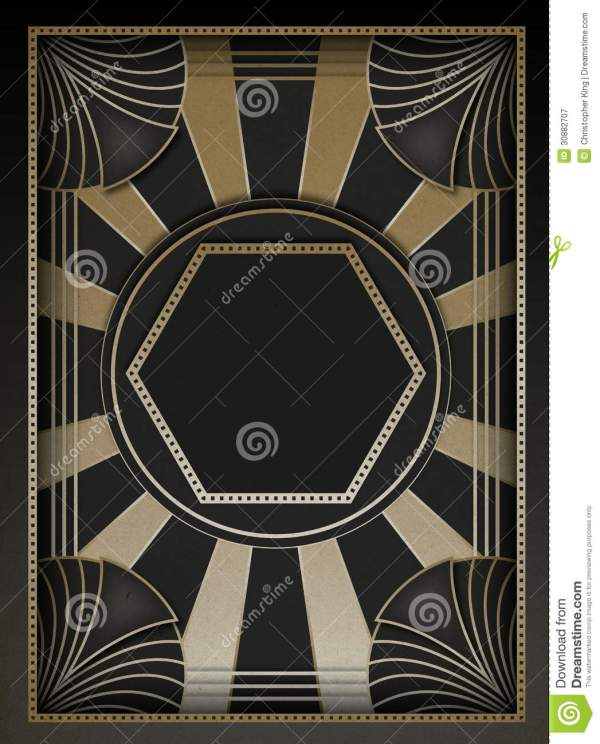 Art Deco Background And Frame Royalty Free Stock - 30882707