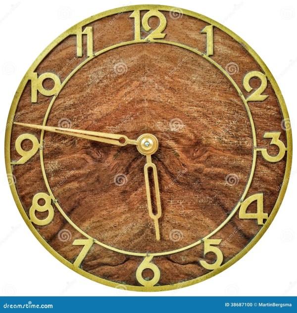 Art Deco Clockface Early 20th Century Stock