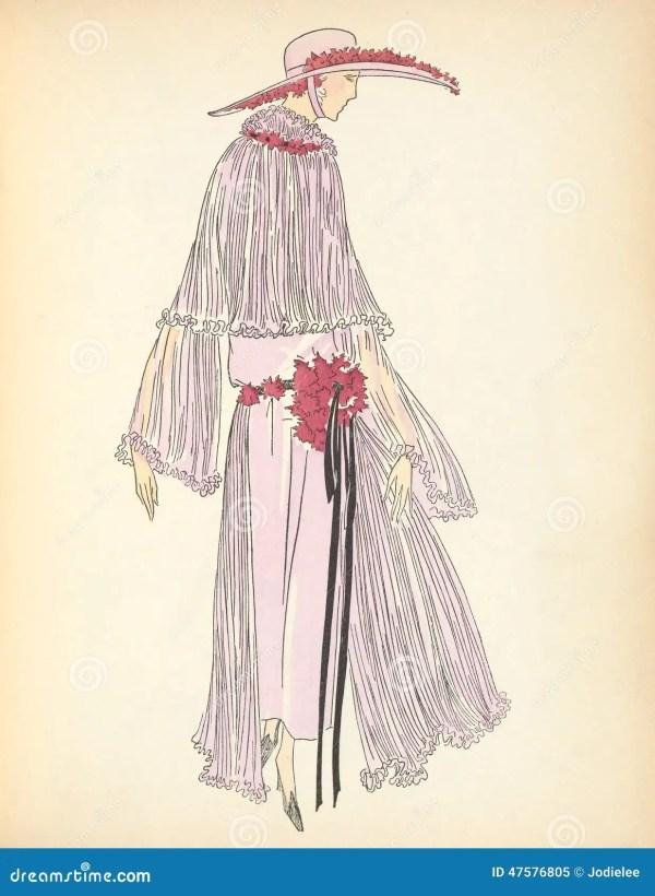 Ladies Art Deco Illustrations
