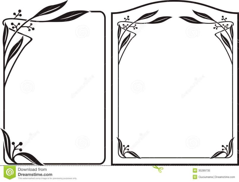 Borders and frames black white frameswalls flower borders and frames black white comousar mightylinksfo