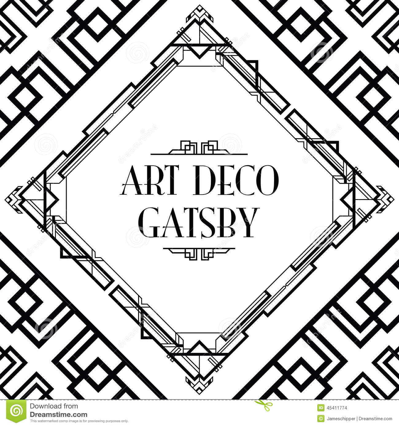 Art deco gatsby style stock vector. Image of frame, line