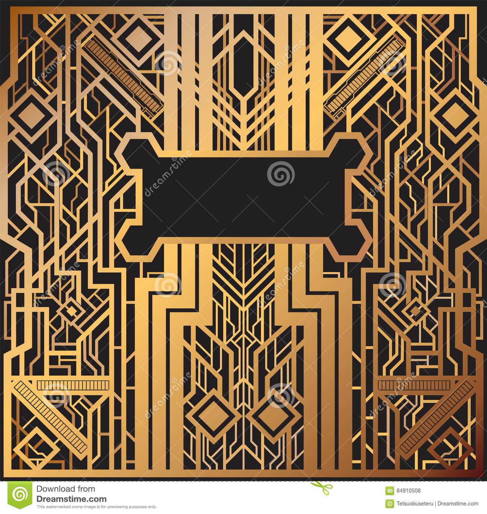 Art Deco Stock Images Art Deco Style Party Invitation