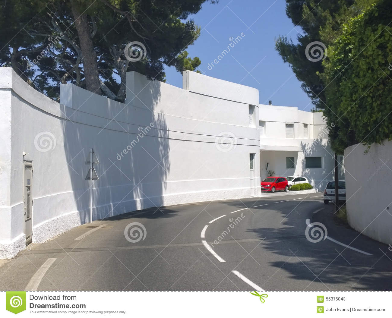 Art Deco Villa On The French Riviera Stock Image Image Of