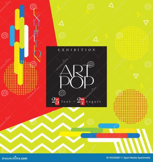 Art Exhibition Flyer Stock Vector. Illustration Of