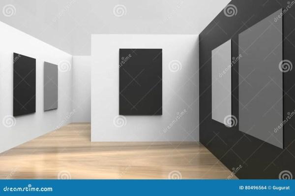 Art Studio And Framewall Black White