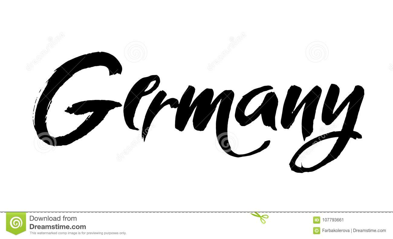 Art Lettering Design Vector Of Country Name For Germany Modern