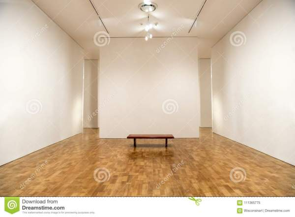 Art Museum Blank Walls Background Stock