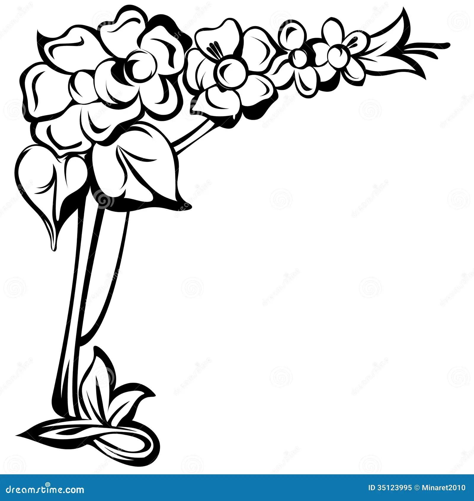 Art Nouveau Do Elemento Do Design Floral Ilustração do