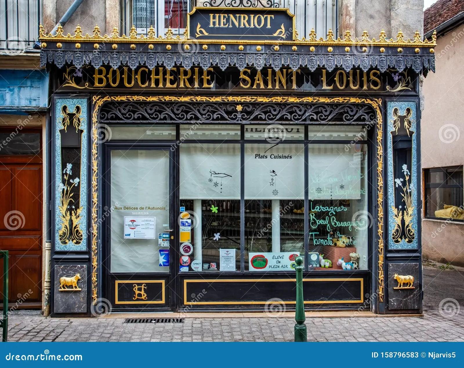 https www dreamstime com art nouveau front saint louis butchers shop autun burgundy france art nouveau front saint louis butchers shop image158796583