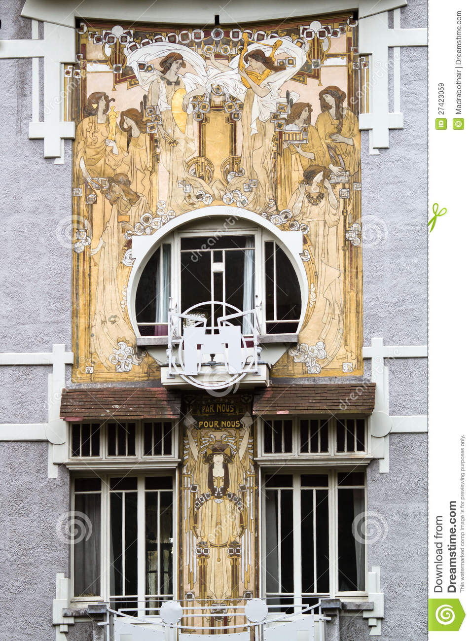 Art Nouveau House Front In Brussels Royalty Free Stock Images  Image 27423059